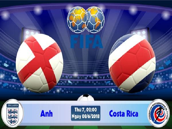 Nhận định Anh vs Costa Rica