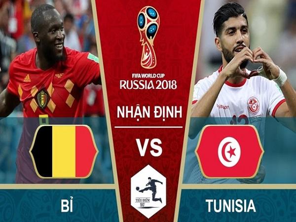 Nhận định Bỉ vs Tunisia