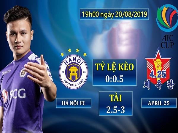 Link xem bóng đá trực tuyến Hà Nội FC vs April 25, 19h00 ngày 25/09