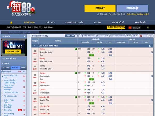 Trang cá độ bóng đá qua mạng M88
