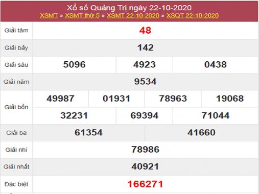 Dự đoán KQXSQT ngày 29/10/2020- xổ số quảng trị hôm nay