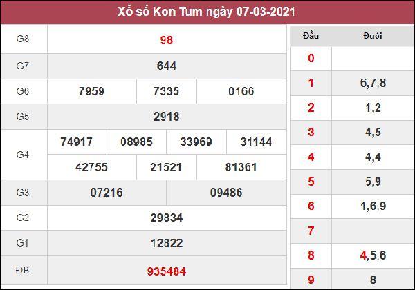 Dự đoán XSKT 14/3/2021 chốt KQXS Kon Tum cùng cao thủ