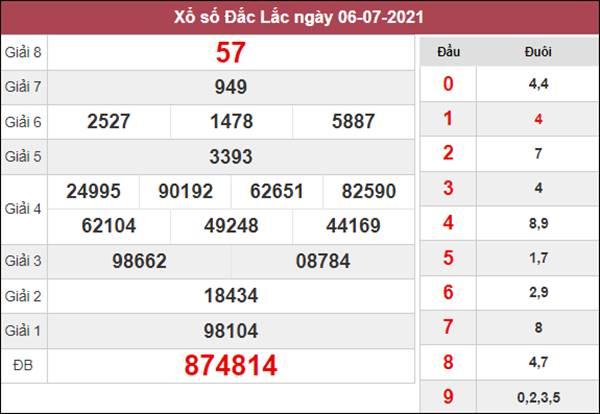 Dự đoán XSDLK 13/7/2021 thứ 3 khả năng trúng cao nhất